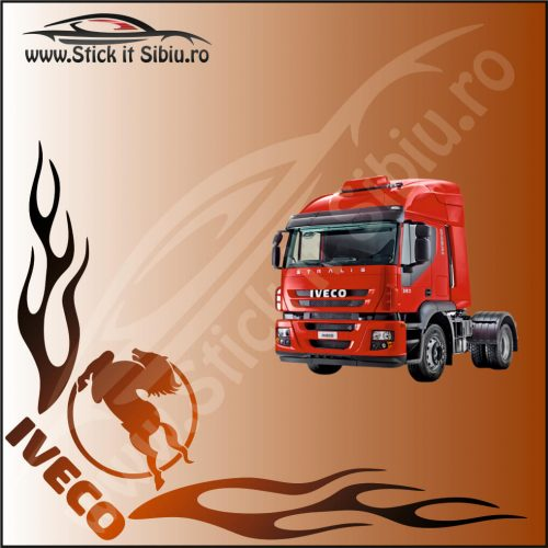 Stickere Geam TIR-Camion Iveco Model 21 - Stickere Auto