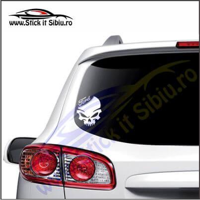 Skull Ford - Stickere Auto