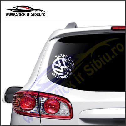 Baby On Board Volkswagen - Stickere Auto