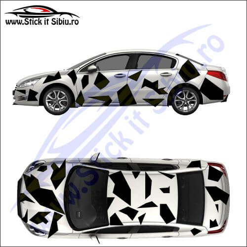 Camuflaj Geo Winter UNO - Stickere auto