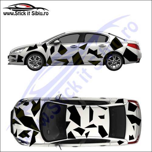 Camuflaj Geo Winter UNO - Stickere auto