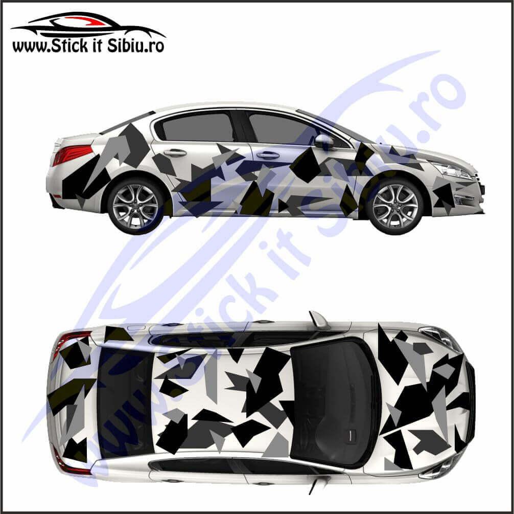 Camuflaj Geo Winter DUO- Stickere auto