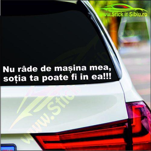 Nu Rade De Masina Mea… - Stickere Auto