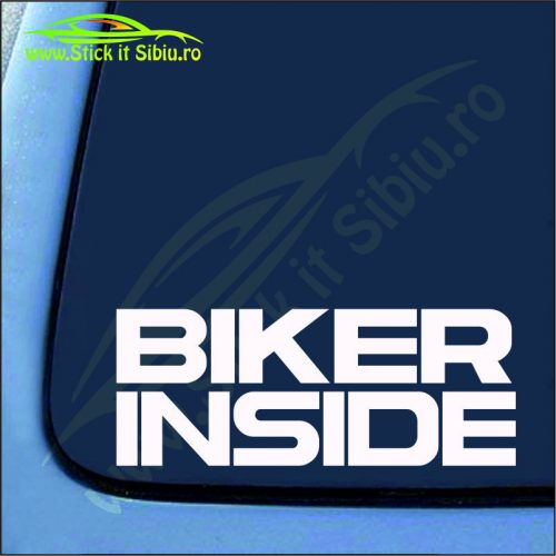 Biker Inside - Stickere Auto