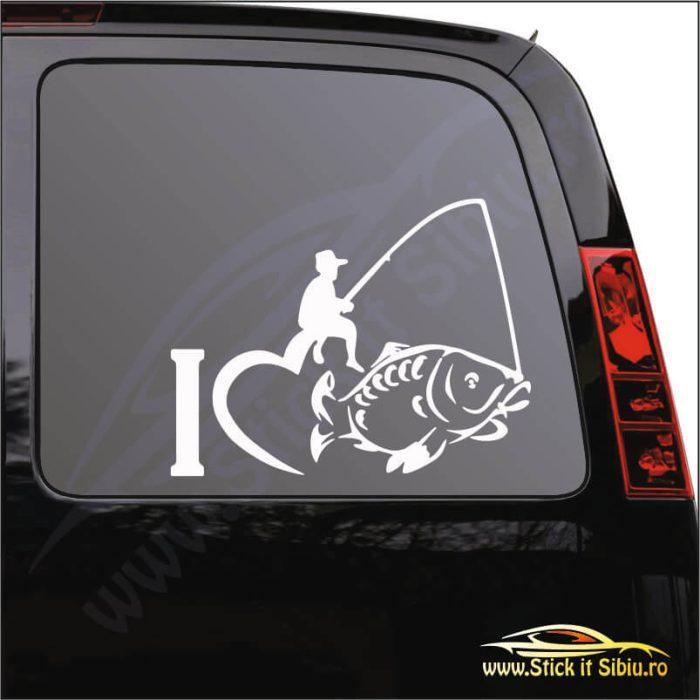 I love Fishing - Stickere Auto