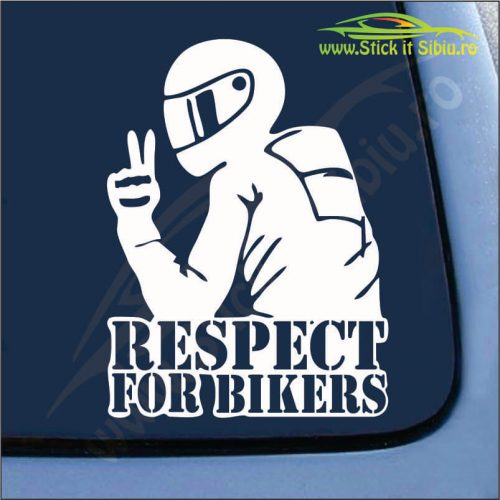 Respect For Bikers Model 2 - Stickere Auto
