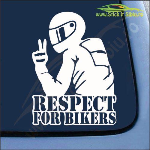 Respect For Bikers Model 2 - Stickere Auto