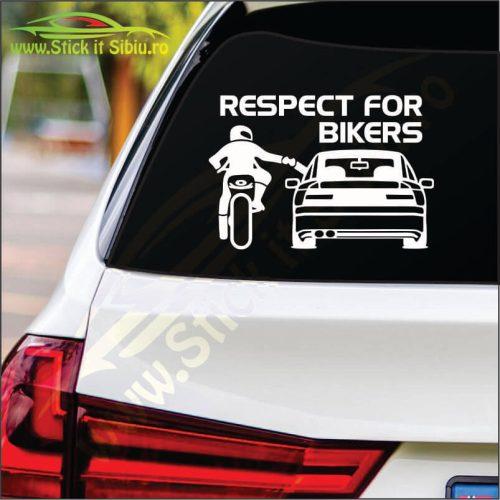Respect For Bikers Model 4 - Stickere Auto