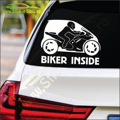 Biker Inside Model 2 - Stickere Auto