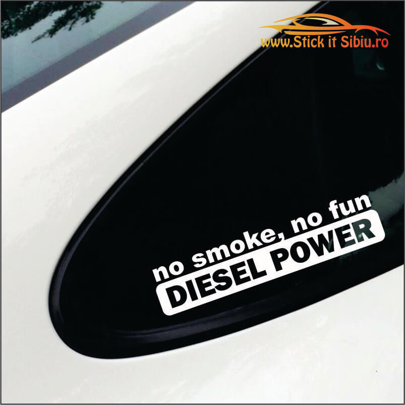 No Smoke, No Fun Model 2 - Stickere Auto
