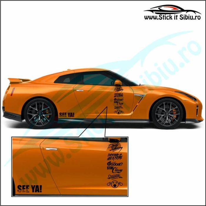 Set 16 sponsori Auto - Stickere auto