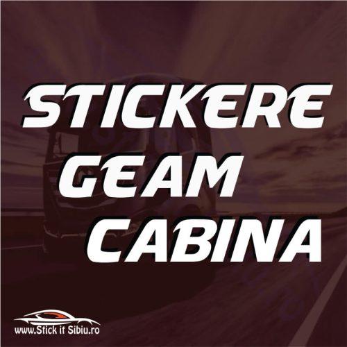 Stickere Geam - Cabina MAN