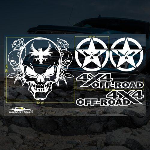 Set Stickere Skull Off road - Stickere Auto - Off Road
