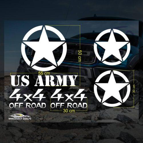 Set Stickere Off Road US ARMY - Stickere Auto - Off Road