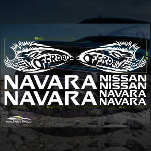 Set Stickere Nissan Navara - Stickere Auto - Off Road