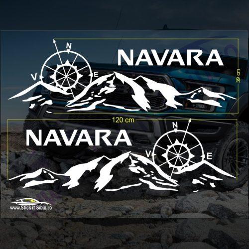 Set Stickere Nissan Navara V2 - Stickere Auto - Off Road