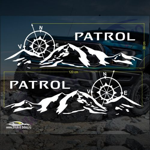 Set Stickere Nissan Patrol V2 - Stickere Auto - Off Road