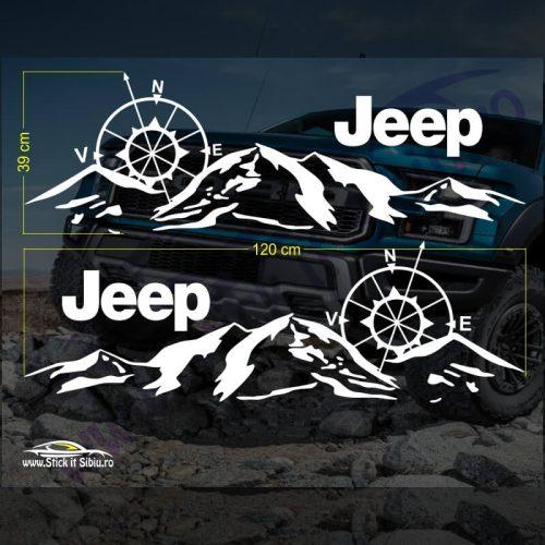 Set Stickere Jeep V3 - Stickere Auto - Off Road