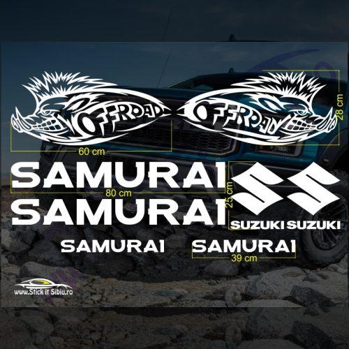 Set Stickere Suzuki Samurai V3 - Stickere Auto - Off Road