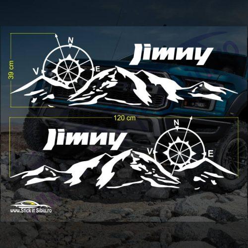 Set Stickere Suzuki Jimny V3 - Stickere Auto - Off Road