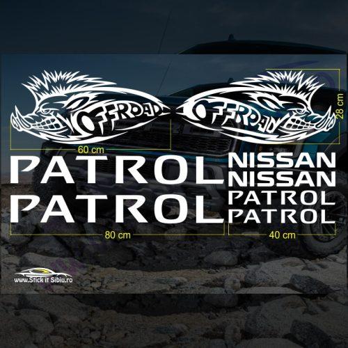 Set Stickere Nissan Patrol V3 - Stickere Auto - Off Road