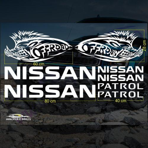 Set Stickere Nissan Patrol V4 - Stickere Auto - Off Road