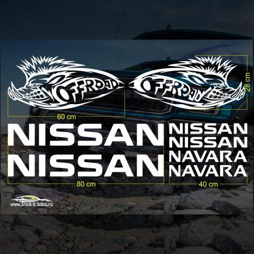 Set Stickere Nissan Navara V3 - Stickere Auto - Off Road