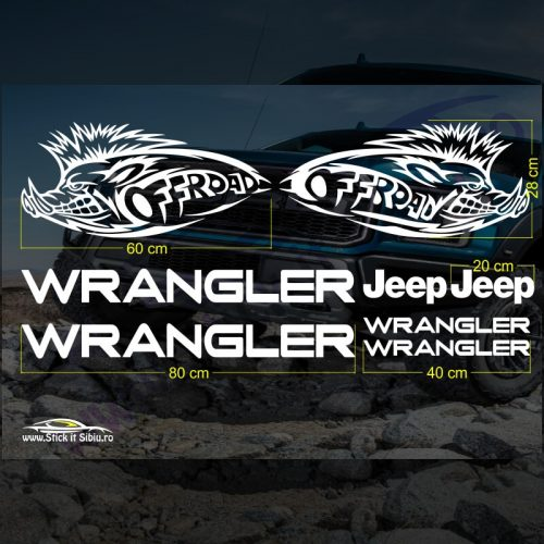 Set Stickere Jeep Wrangler V3 - Stickere Auto - Off Road