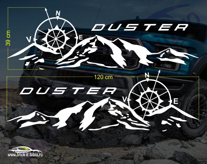Set Stickere Dacia Duster V2 - Stickere Auto - Off Road