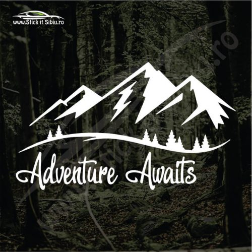 Adventure Awaits - Stickere Auto