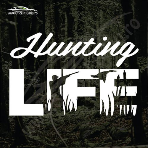 Hunting Life - Stickere Auto