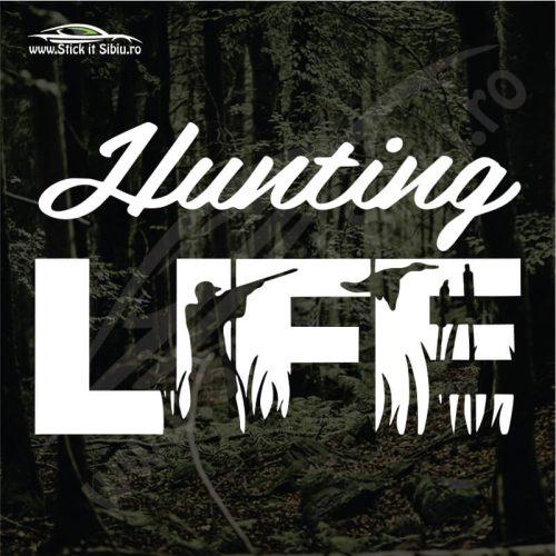 Hunting Life - Stickere Auto