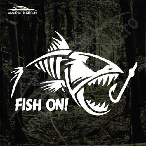 Fish On - Model 2 - Stickere Auto