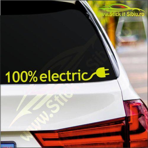 100% Electric - Stickere Auto