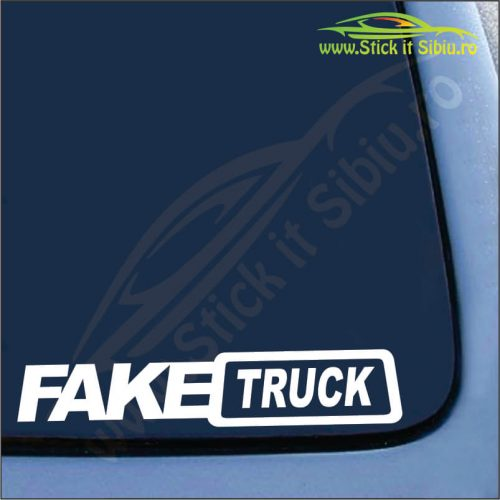 Fake Truck - Stickere Auto