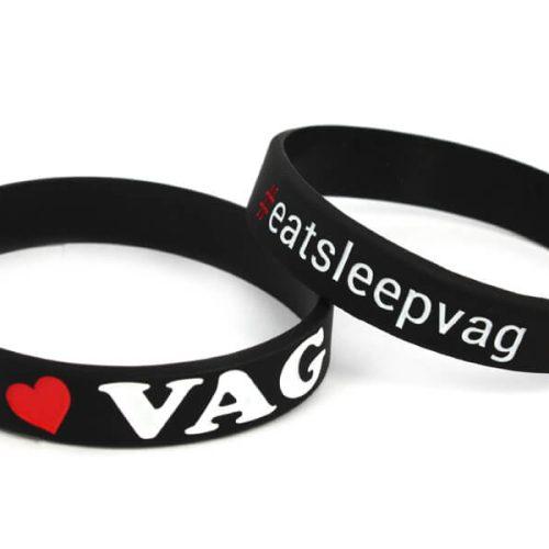 Bratara din silicon - I love VAG