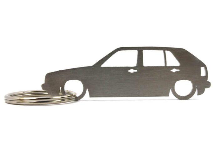 Breloc Silueta Otel Inoxidabil - VOLKSWAGEN - Golf Mk2 5 usi