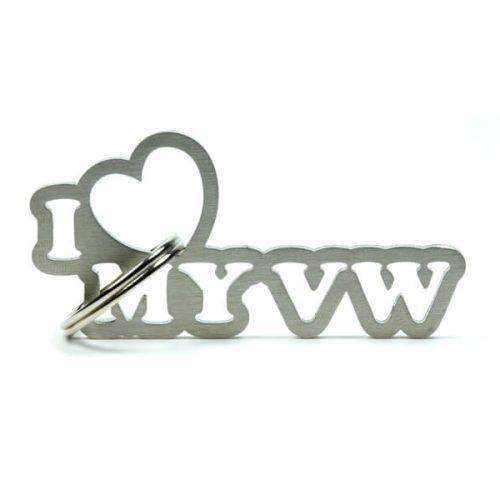 Breloc Metalic - I love my VW - Stickere Parbriz - Stickere Far - Stickere Parasolare - stickere auto - Parasolare auto - Camuflaje auto - Brelocuri Auto - Odorizante auto - Breloc Piese Auto - Short Lanyard - Breloc Piele-Metal - Alte Brelocuri din metal