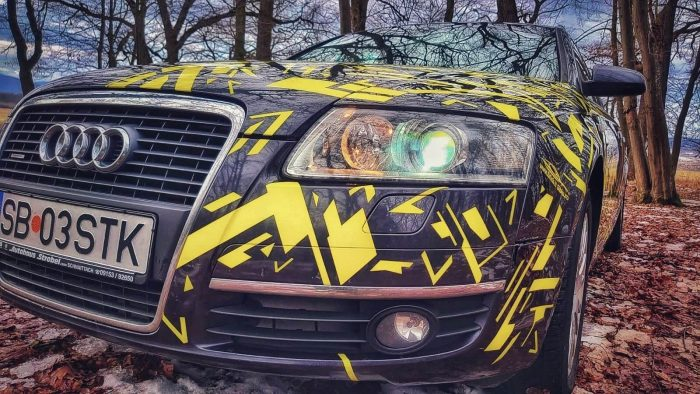 Pachet Camuflaj Yellow Fever - Stickere Auto