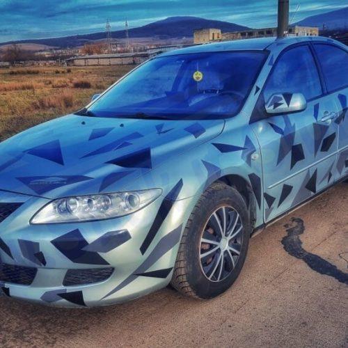 Camuflaj Geo Winter DUO V2- Stickere auto