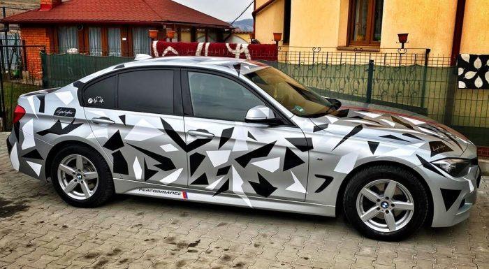 Pachet Camuflaj Geo Winter Prime V3 - Stickere Auto