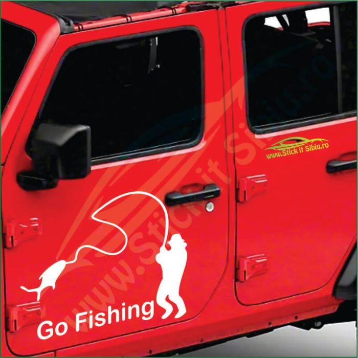 Go Fishing - Stickere Auto