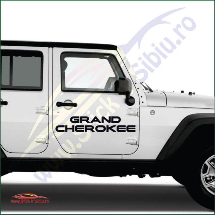 Jeep Grand Cherokee logo - Stickere Auto
